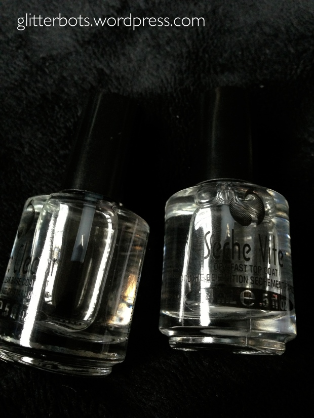 Seche Vite top coat and base coat