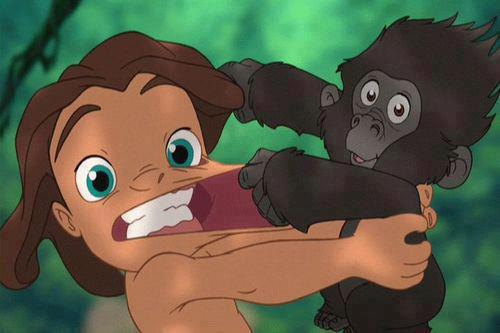 Disney movie marathon 4 tarzan where there s more death than a morgue glitterbots - Tarzan gorille ...